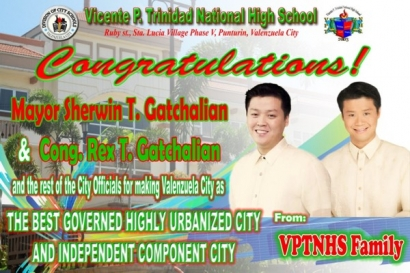 Congratulation to Mayor Sherwin Gatchalian and Cong. Rexlon Gatchalian