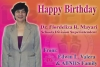Happy Birthday Dr. Flordeliza R. Mayari From: Mr. Edwin L. Valera / Teachers and Staff