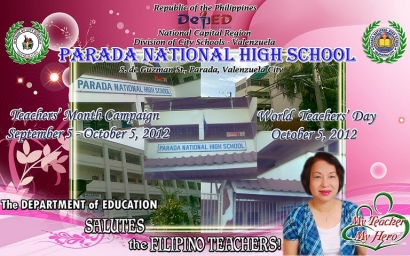 TEACHERS' MONTH CAMPAIGN & WORLD TEACHERS' DAY