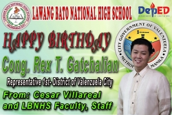 Maligayang Kaarawan Hon. Rex T. Gatchalian God Bless you and your Family..