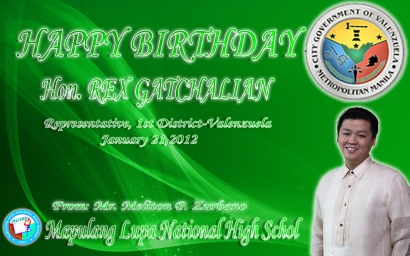 Happy Birthday Hon. Rex T. Gatchalian