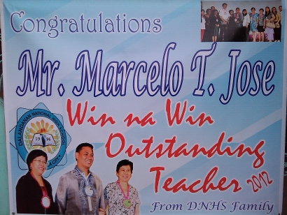 DNHS FAMILY CONGRATULATES MR. MARCELO T. JOSE!