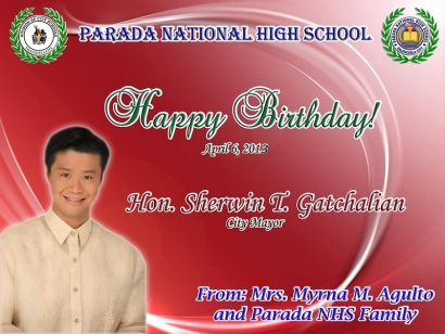 Happy Birthday Hon. Sherwin T. Gatchalian