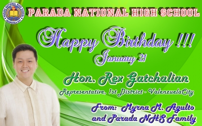 Happy Birthday Hon. Rex Gatchalian
