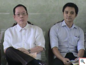 Dr. Edgardo A. Abendan (left) shares this frame with Archt. Benedict B. Bautista, the country's 2011 topnotch architect.